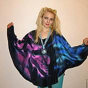 Блузки ручной работы. Ярмарка Мастеров - ручная работа блуза-пончо-Ночная радуга. Handmade.
