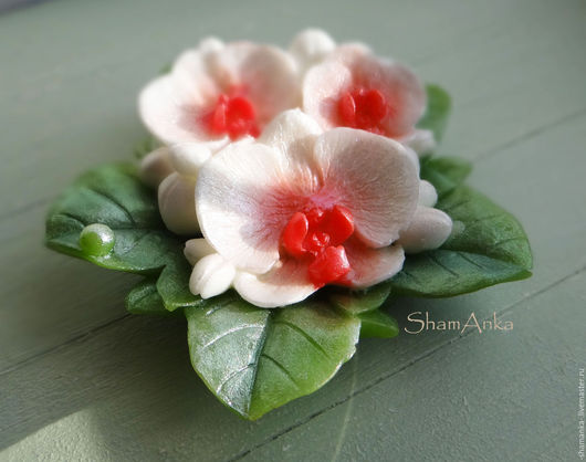 Мыло ручной работы. Ярмарка Мастеров - ручная работа. Купить Орхидеи. Handmade. Белый, орхидея фаленопсис, мыло в москве, букет