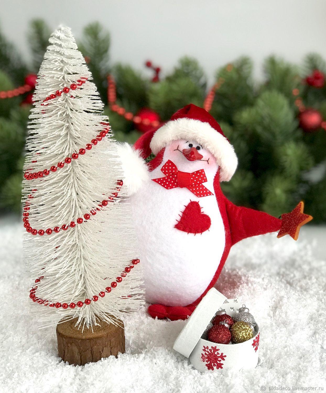 Пингвин из фетра с елочкой, Мягкие игрушки, Киев,  Фото №1
