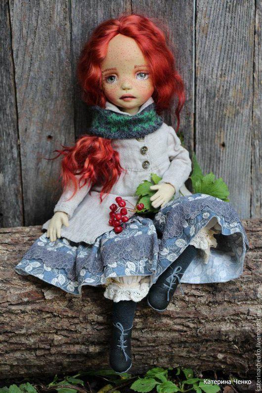 Коллекционные куклы ручной работы. Ярмарка Мастеров - ручная работа. Купить Текстильная кукла, Астра. Handmade. Рыжий, кукла текстильная