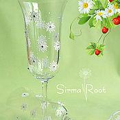 Свадебный салон ручной работы. Ярмарка Мастеров - ручная работа Свадебные бокалы Ромашки. Handmade.