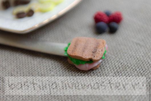 Кухня ручной работы. Ярмарка Мастеров - ручная работа. Купить Вилка с сендвичем. Handmade. Кремовый, пластика, нержавеющая сталь