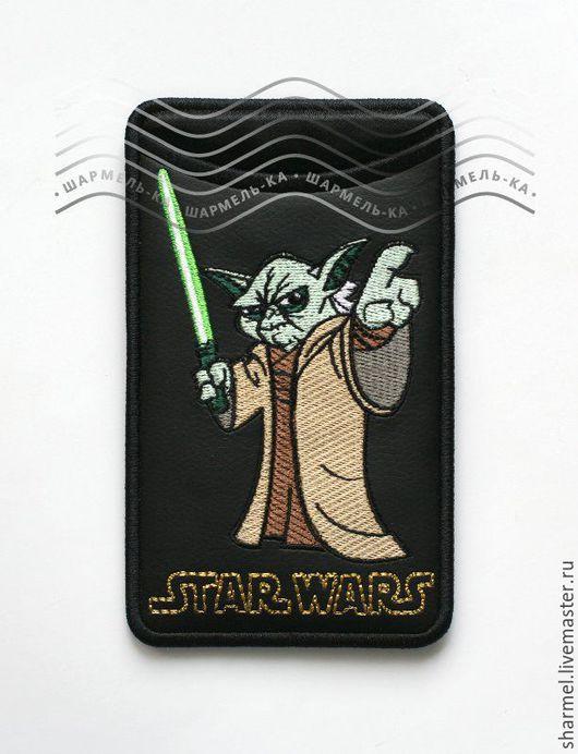 Чехол для айфона, телефона вышитый `Мастер Йода. Звездные войны`