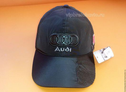Бейсболка с логотипом авто Audi  утепленная, бейсболка с вышитым логотипом авто, кепка с эмблемой автомобиля зимняя