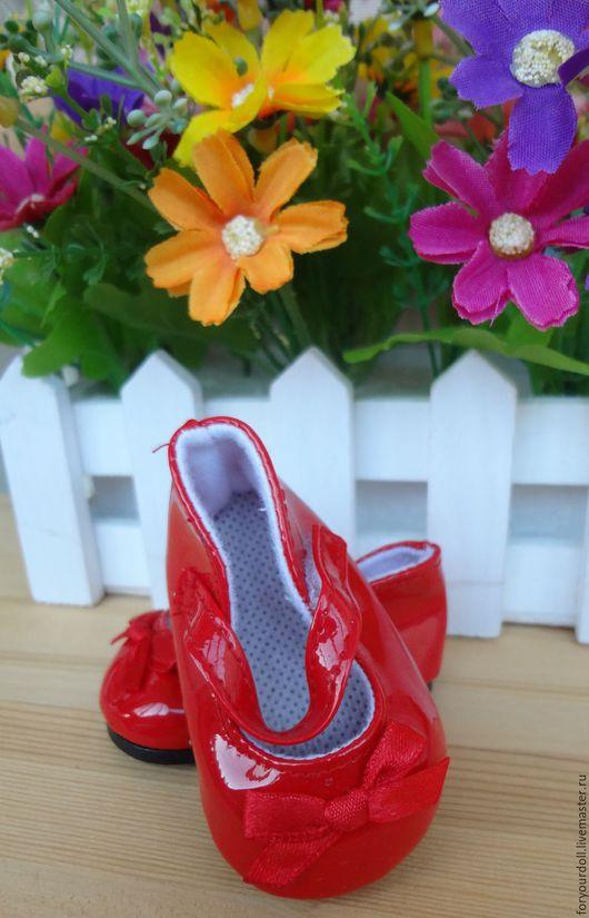 Куклы и игрушки ручной работы. Ярмарка Мастеров - ручная работа. Купить Туфли лаковые с бантом, три цвета. Handmade.