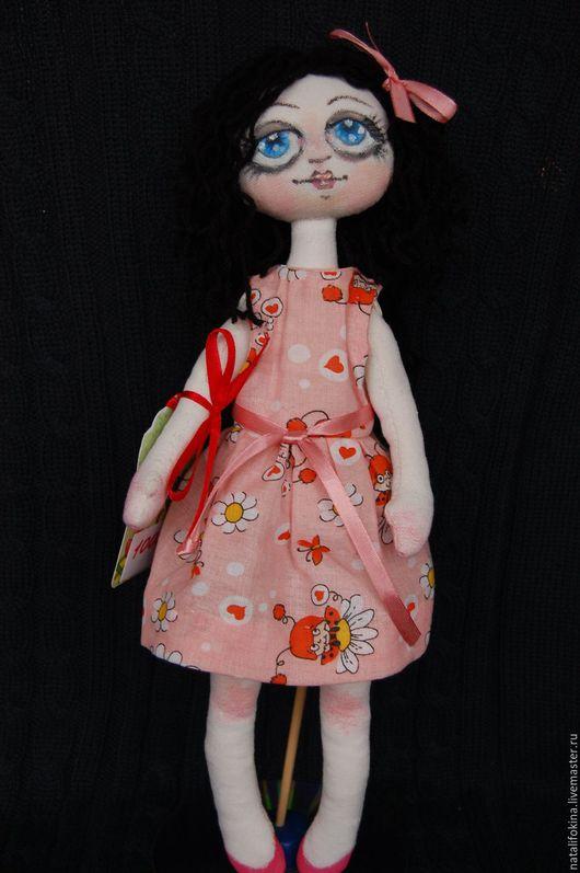 Куклы тыквоголовки ручной работы. Ярмарка Мастеров - ручная работа. Купить Текстильная куколка Кудряшка Сью. Handmade. Белый