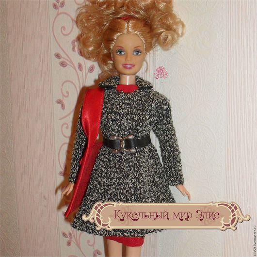 Одежда для кукол ручной работы. Ярмарка Мастеров - ручная работа. Купить Кукольная одежда 1/6 - пальто короткое из букле. Handmade.