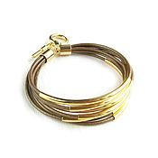 Украшения handmade. Livemaster - original item Brown leather bracelet