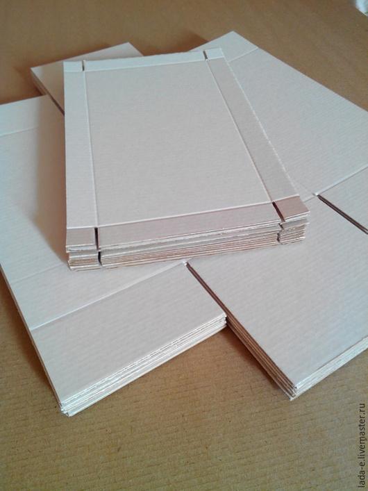 Упаковка ручной работы. Ярмарка Мастеров - ручная работа. Купить Заготовка коробочек 12х21х11 цвет крафт. Handmade. Коробка, заготовка