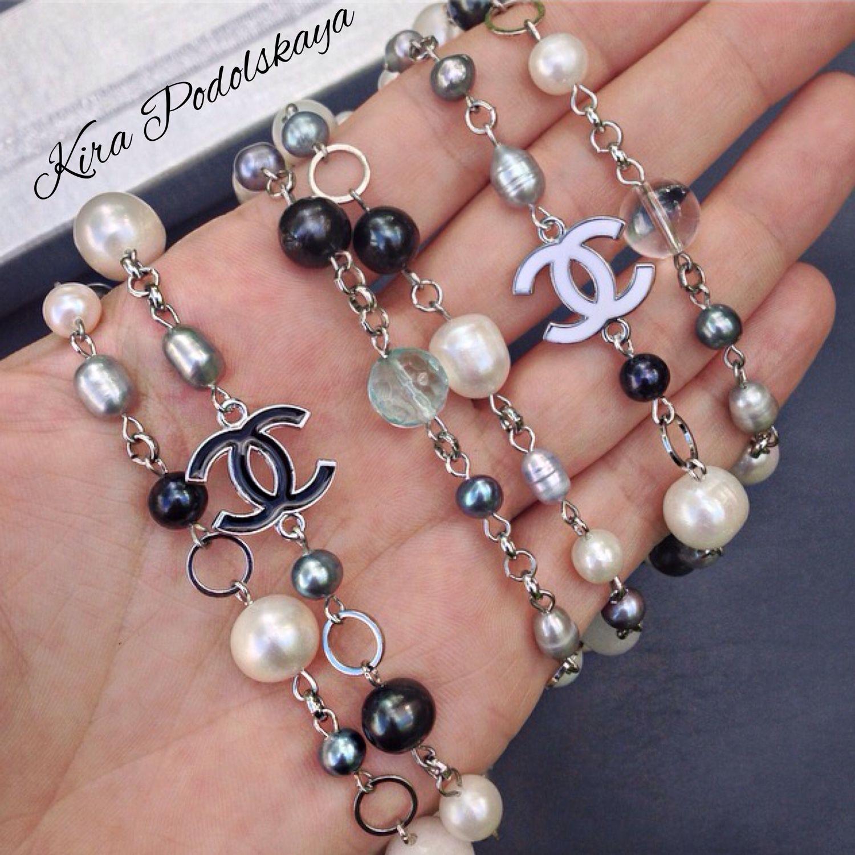 Длинные бусы в стиле Chanel из натурального жемчуга – купить в ... b02229c88ad
