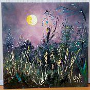 Картины и панно handmade. Livemaster - original item Miniature sunset, dawn