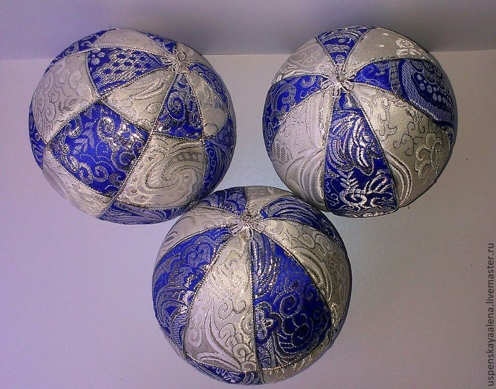 Елочные шары своими руками из пенопластовых шаров 4
