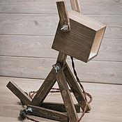 Для дома и интерьера ручной работы. Ярмарка Мастеров - ручная работа Лампа настольная деревянная.. Handmade.