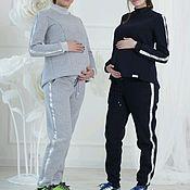 Одежда ручной работы. Ярмарка Мастеров - ручная работа Костюм с начесом для беременных кормящих мам трикотаж на зиму теплый. Handmade.