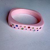 Винтаж ручной работы. Ярмарка Мастеров - ручная работа Винтажный розовый браслет стиль Pin-up.. Handmade.