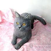 Куклы и игрушки handmade. Livemaster - original item Cat Baron British breed / cat British felted wool. Handmade.