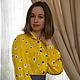 """Блузки ручной работы. Ярмарка Мастеров - ручная работа. Купить Блузка """"Яркое настроение"""". Handmade. Желтый, блузка женская, трикотин"""