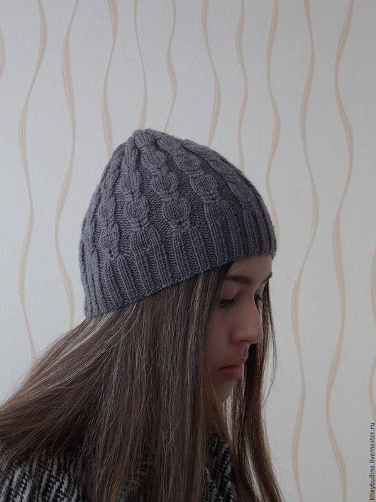 Шапки ручной работы. Ярмарка Мастеров - ручная работа. Купить Вязаная шапка. Handmade. Полушерстяная пряжа, молодежная шапка