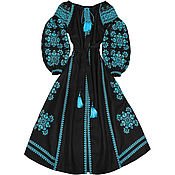 "Одежда handmade. Livemaster - original item Long embroidered dress ""Constellation of Happiness"". Handmade."