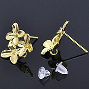 Материалы для творчества handmade. Livemaster - original item Poussettes for costume jewelry Flowers, color-gold art. .4-5A. Handmade.
