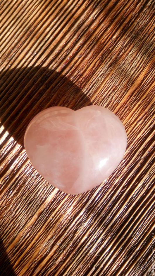 Обереги, талисманы, амулеты ручной работы. Ярмарка Мастеров - ручная работа. Купить Сердце, розовый кварц. Handmade. Розовый