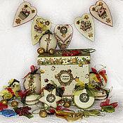 Подарки к праздникам handmade. Livemaster - original item Set new year Christmas decorations