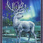 Подарки к праздникам ручной работы. Ярмарка Мастеров - ручная работа Белый олень. Набор для вышивания. Handmade.