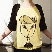 Одежда ручной работы. Ярмарка Мастеров - ручная работа Летний джемпер с портретом 3. Handmade.
