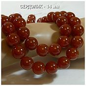 Материалы для творчества handmade. Livemaster - original item 14 mm-Carnelian beads natural. pcs. Handmade.