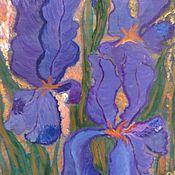 Картины и панно ручной работы. Ярмарка Мастеров - ручная работа Фиолетовое пламя. Handmade.