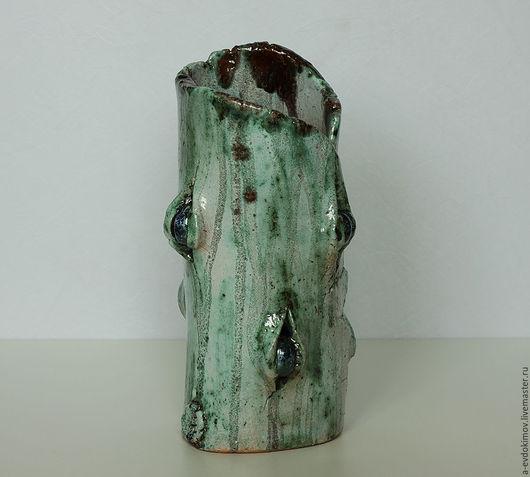 Вазы ручной работы. Ярмарка Мастеров - ручная работа. Купить Ваза керамическая изумрудная. Handmade. Комбинированный, искусство, ceramics, керамика
