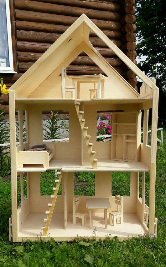 Кукольный дом ручной работы. Ярмарка Мастеров - ручная работа. Купить Деревянный кукольный домик. Handmade. Деревянный, барби