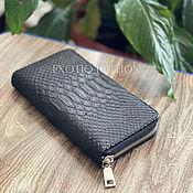 Сумки и аксессуары handmade. Livemaster - original item The wallet is made of Python skin. Handmade.