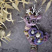 Украшения handmade. Livemaster - original item A llama walking through a spring forest with a flashlight . Brooch. Handmade.