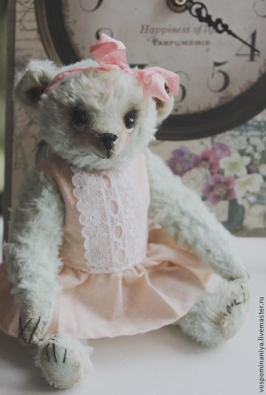 Мишки Тедди ручной работы. Ярмарка Мастеров - ручная работа. Купить Молли. Handmade. Мятный, подарок девушке, итальянская вискоза