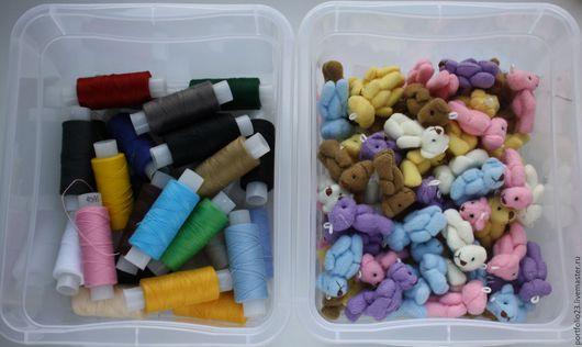Куклы и игрушки ручной работы. Ярмарка Мастеров - ручная работа. Купить Нитки швейные основных цветов. Handmade. Комбинированный, Нитки
