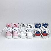 Материалы для творчества handmade. Livemaster - original item Accessories for dolls and toys: Sneakers for dolls 4 cm. Handmade.