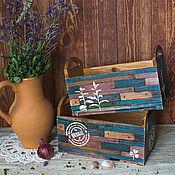 """Для дома и интерьера ручной работы. Ярмарка Мастеров - ручная работа Ящики-короба для кухни """"Herbal"""". Handmade."""