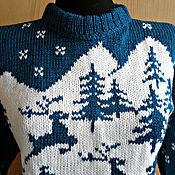 Одежда handmade. Livemaster - original item Sweater with deers. Handmade.