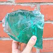 Сувениры и подарки handmade. Livemaster - original item Erklez glass piece green1, blocks of glass, glass stones. Handmade.