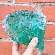 Изделия ручной работы. Ярмарка Мастеров - ручная работа Эрклез стекло кусковое зеленое1, глыбы стекла, камни из стекла. Handmade.