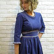 Одежда handmade. Livemaster - original item Corduroy dress-lilac. Handmade.