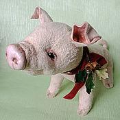 Мягкие игрушки ручной работы. Ярмарка Мастеров - ручная работа Мягкие игрушки: Свинка Лялька. Handmade.
