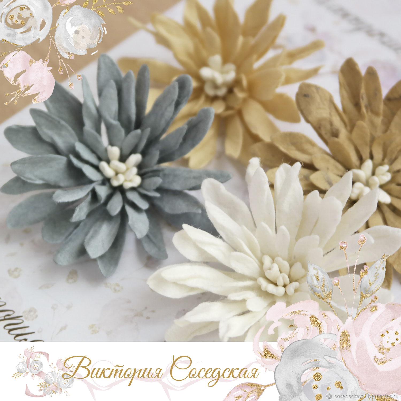 Набор цветов 4 шт – заказать на Ярмарке Мастеров – MJKJSRU | Инструменты для скрапбукинга, Москва