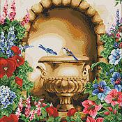 """Материалы для творчества ручной работы. Ярмарка Мастеров - ручная работа Схема для вышивания бисером """"Птицы в саду"""" полная зашивка бисером. Handmade."""