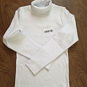 Одежда ручной работы. Ярмарка Мастеров - ручная работа Белая водолазка на девочку. Handmade.