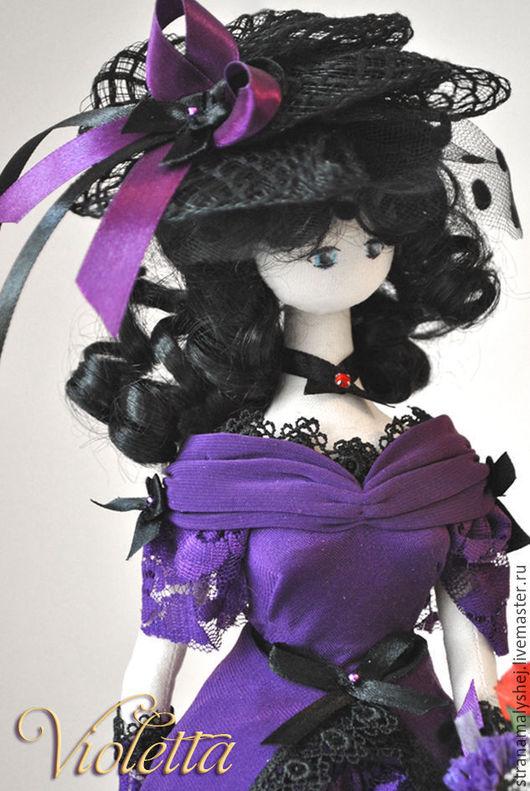 Коллекционная кукла, Страна малышей, Ярмарка мастеров корейский тряпиенс с ножками, будуарная кукла, текстильная Барби, фиолетовая кукла, кукла для декора дома или салона