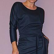 """Одежда ручной работы. Ярмарка Мастеров - ручная работа Платье """"летучая мышь"""", темно-серое. Handmade."""