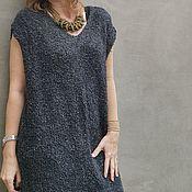 Одежда handmade. Livemaster - original item Stylish Long Vest Merino Sundress Warm Knitted Dress. Handmade.