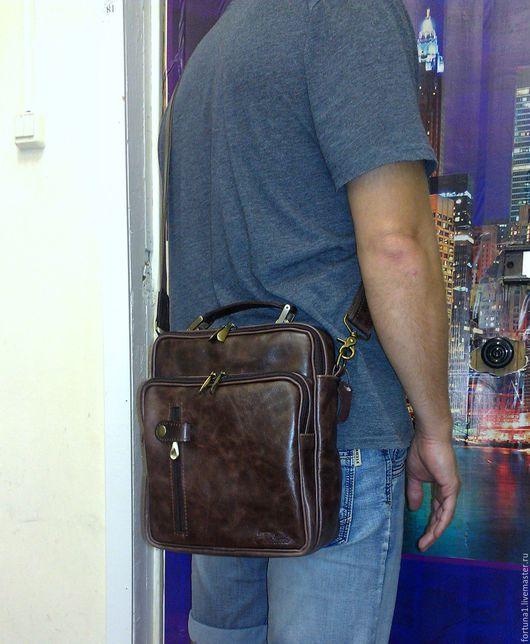 Мужские сумки ручной работы. Ярмарка Мастеров - ручная работа. Купить Сумка мужская 162. Handmade. Сумка, сумка на плечо